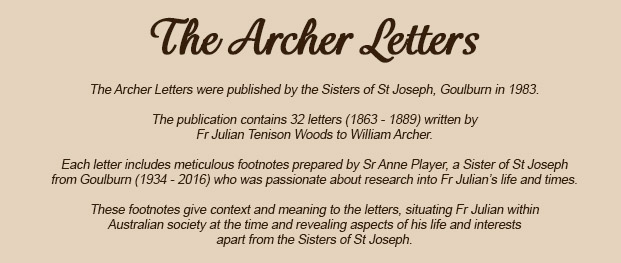 The Archer Letters Letter Twenty Three Sisters Of Saint Joseph